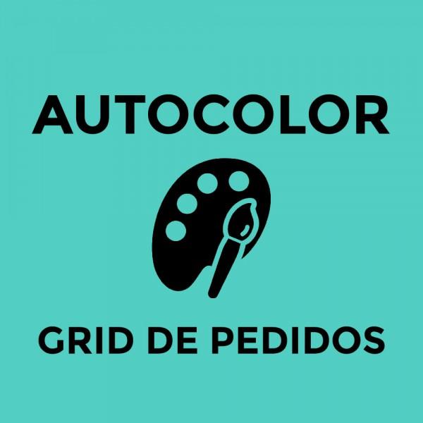 Módulo Auto Color Grid para Cor em Pedidos